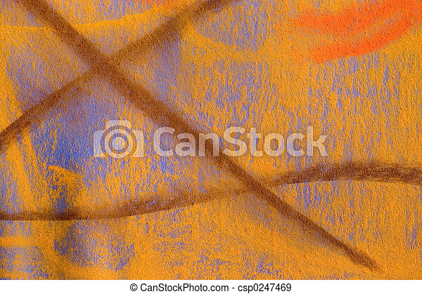 Pastel Grunge Background: Yellow Series - csp0247469