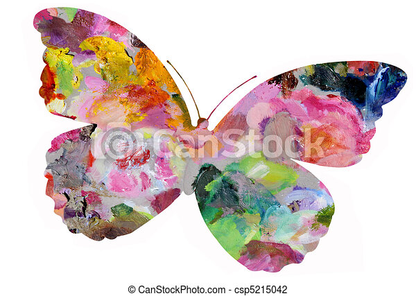 Pastel Painted Butterfly - csp5215042