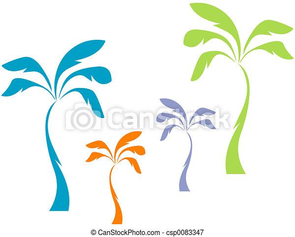 Pastel Palms - csp0083347