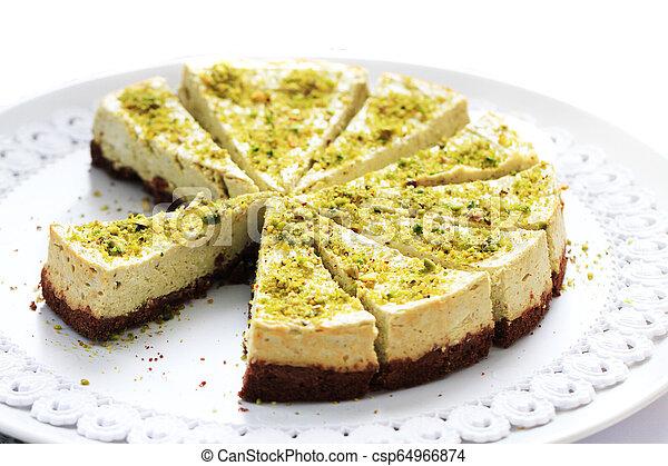 Fondo de comida para pasteles de Pistacho - csp64966874