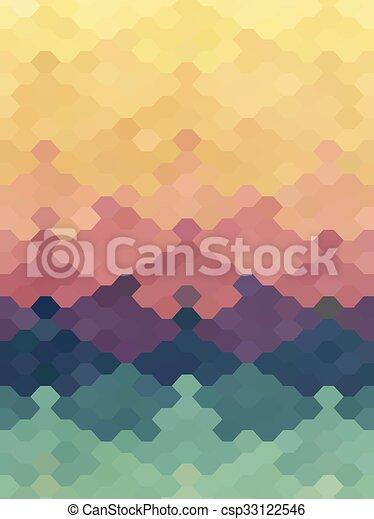 Pastel, puzzle, couleur, résumé, papier peint, hexagone,... vecteur ...