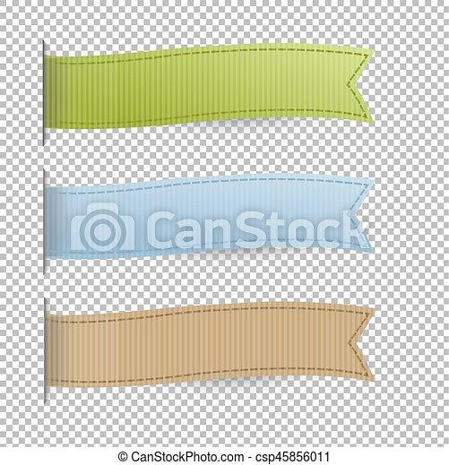 pastel, set, linten, web - csp45856011