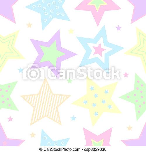 pastel, sterretjes - csp3829830