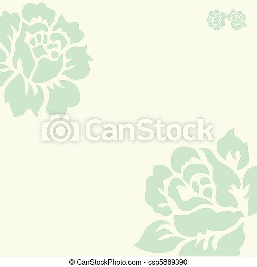pastel, vecteur, fond, rose - csp5889390