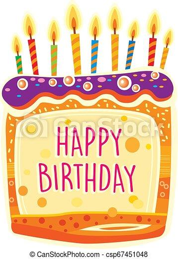Tarjeta de cumpleaños y velas - csp67451048