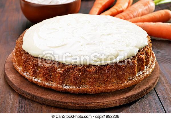 pastel, zanahoria, glaseado - csp21992206