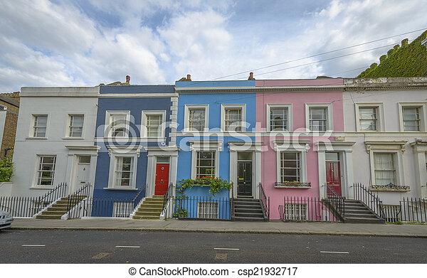 Pastellhäuser, notting Hill - London - csp21932717
