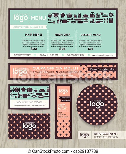 Pastell, restaurantmenü, polka, design, schablone, muster, café ...
