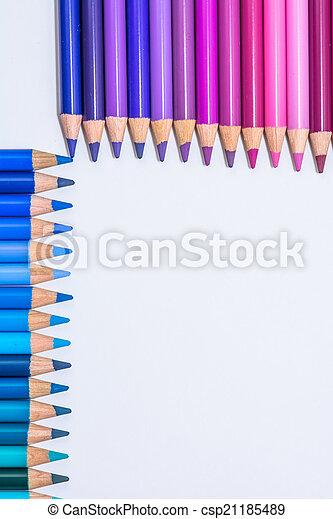 pastelli, file, colorito - csp21185489