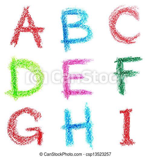 pastello, -, lettrs, alfabeto - csp13523257