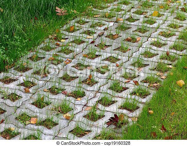 Pasto o csped pavimentar losas Jardn pasto o csped foto
