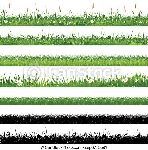 pasto o césped, verde, colección - csp6775591