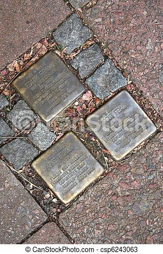 pastorplatz, aache, 1, stolpersteine - csp6243063