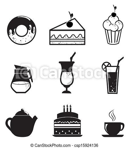 pastry icons  - csp15924136