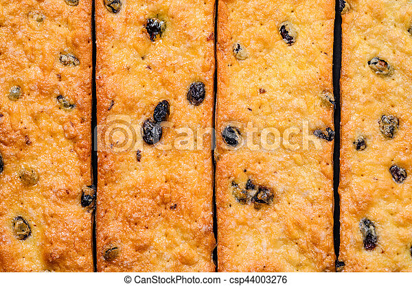 Pastry strips Pattern. Cookie Background - csp44003276