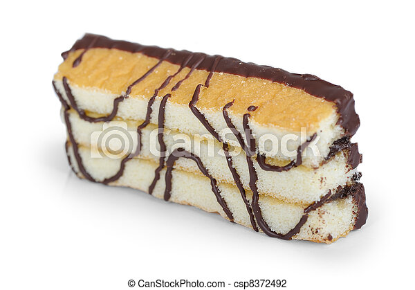 Pastry with chocolate - csp8372492