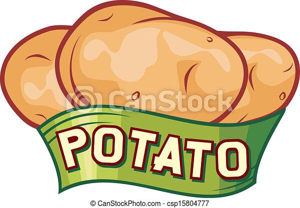 patata, disegno, etichetta - csp15804777