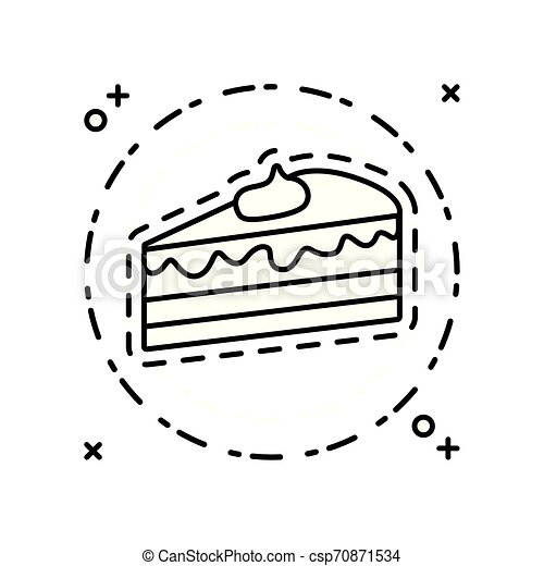 patch of slice sweet cake - csp70871534