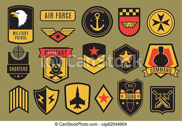 Patches., badges., セット, 紋...