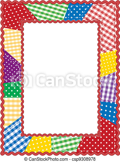 patchwork, cadre, édredon - csp9308978
