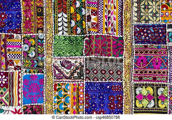 Patchwork carpet in India - csp46850788