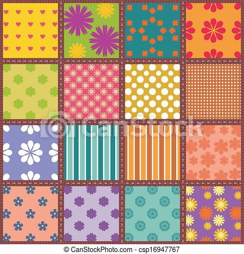 patchwork, fundo - csp16947767