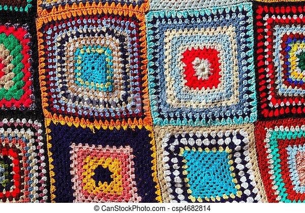 Patchwork Modèle Coloré Handcraft Crochet Tissu Coloré