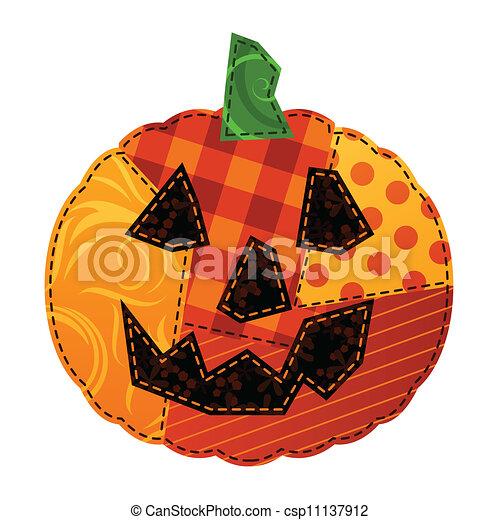 Patchwork pumpkin - csp11137912