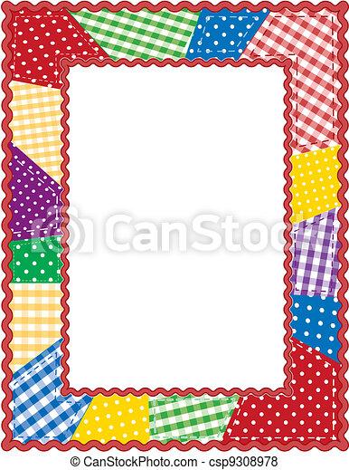 patchwork, quadro, colcha - csp9308978