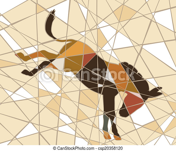 Pateando burros - csp20358120