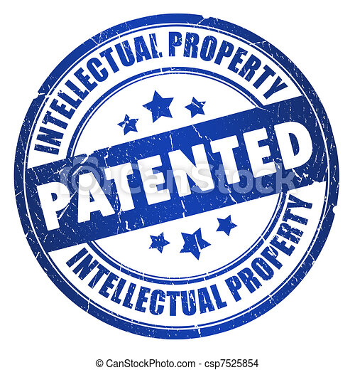 Patented intellectual property stamp - csp7525854