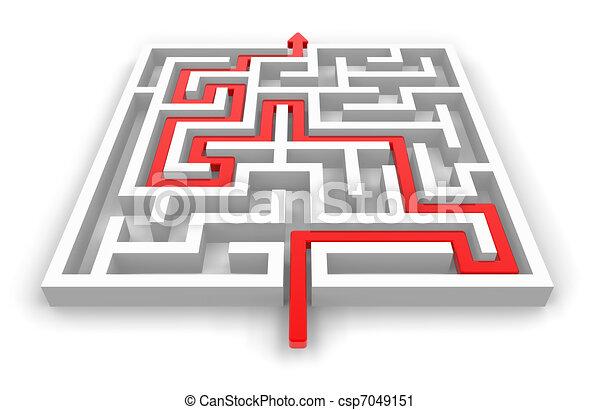 Path across labyrinth - csp7049151