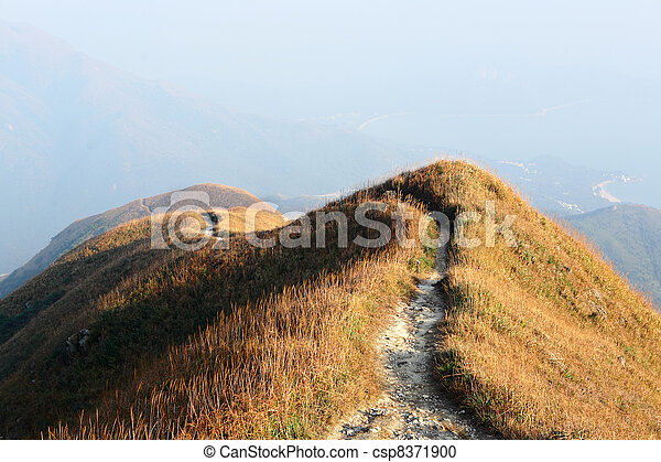 path for hiking on hill - csp8371900