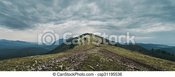 Path leading to the top of mountain - csp31195536