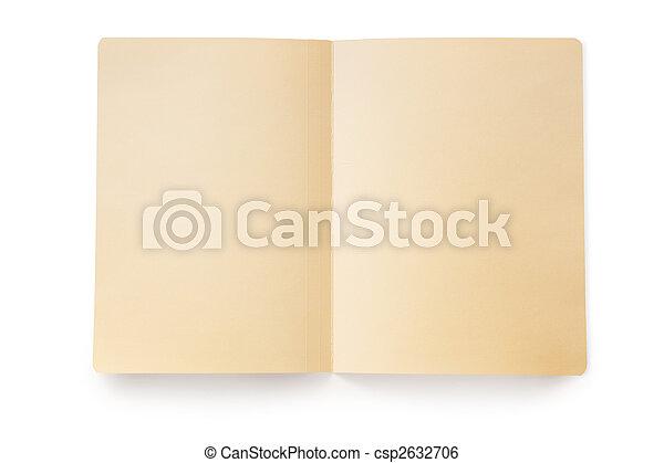 Abre la carpeta de la manila (con el camino) - csp2632706