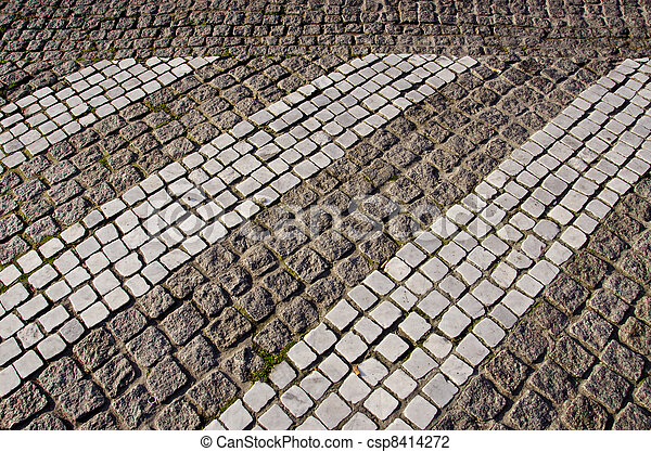 path paved small stone architecture backdrop floor path paved with