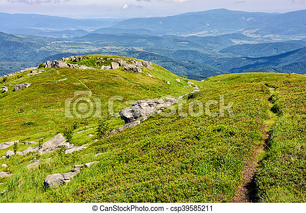 path to the mountain top - csp39585211