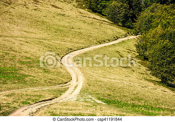 path to the mountain top - csp41191844