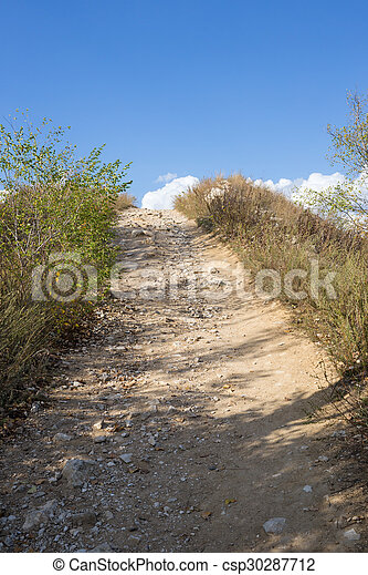 Path to the top of the mountain - csp30287712