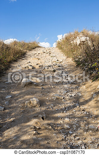 Path to the top of the mountain - csp31087170