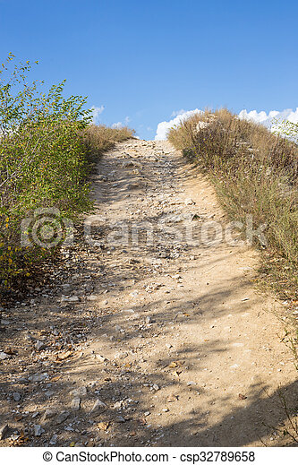 Path to the top of the mountain - csp32789658