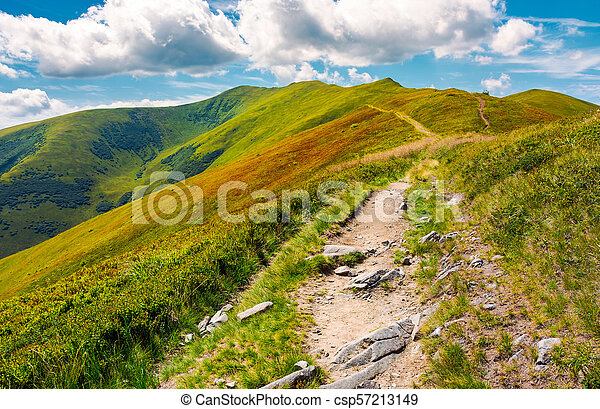 path to the top of the mountain - csp57213149