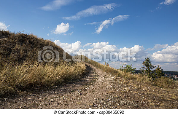 Path to the top of the mountain - csp30465092