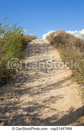 Path to the top of the mountain - csp31447494