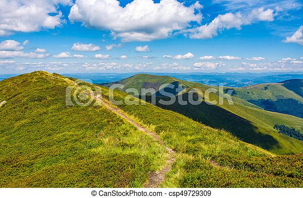 path to top peak of the ridge - csp49729309