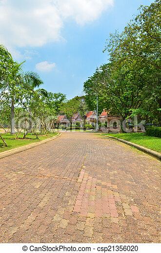 Pathway in the park - csp21356020