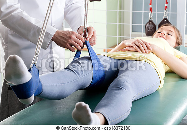 Patient at physiotherapy - csp18372180