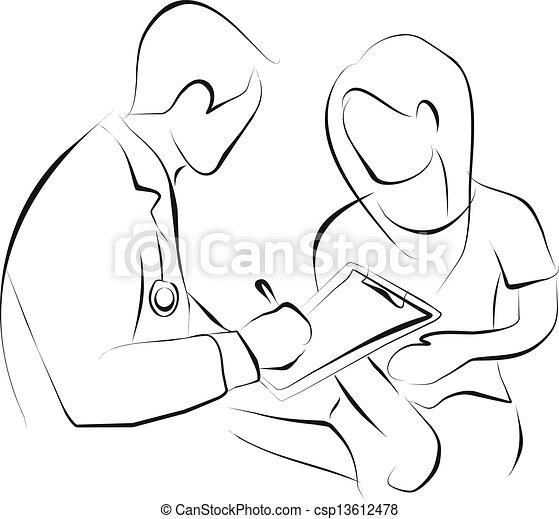 patient, docteur - csp13612478