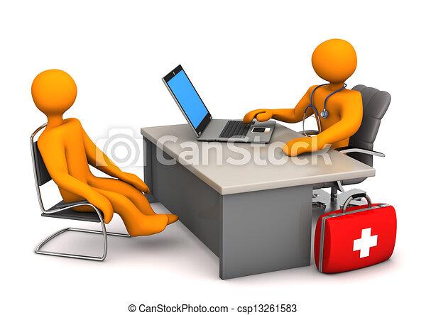 patient, docteur - csp13261583