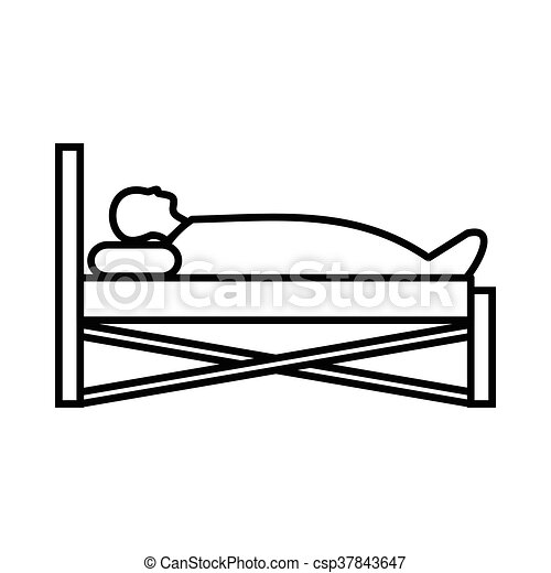 patient in bed in hospital icon outline style patient in bed in rh canstockphoto com